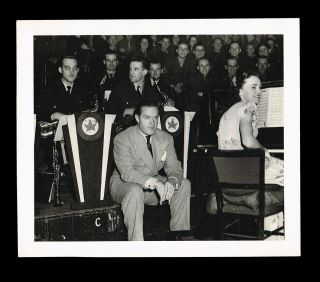Photograph of Bob Hope Performing on Independence Day at London's Royal Albert Hall - July 4th, 1945. Anonymous.