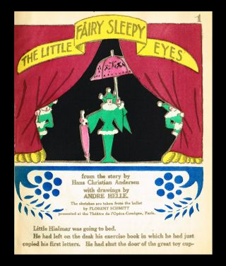 The Little Fairy Sleepy-Eyes (w. Hand-Colored Pochoir Illustrations). Hans Christian Andersen, Florent Schmitt.