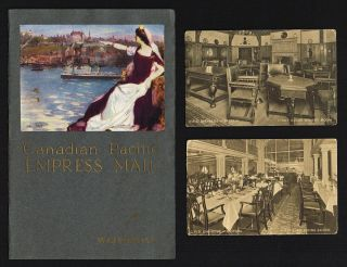 1911 Canadian Pacific Empress Mail Steamer Booklet (Empress of Ireland & Empress of Britain). Canadian Pacific.