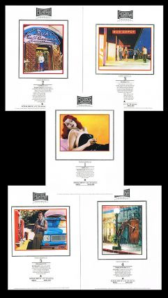 5 Hand Bill Ads - Humphrey Bogart in 'Casablanca', Rita Hayworth in 'Gilda', Marilyn Monroe in 'Bus Stop', Gene Kelly in 'Singing in the Rain' and Burt Reynolds in 'Deliverance'. Frans Evenhuis, Marty Schwartz.