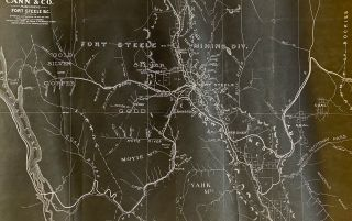 [East Kootenay, B.C.] 1897 Map of Fort Steele Mining Division