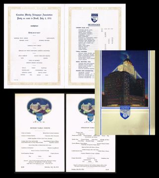 1931 Canadian Pacific Dining Car Service Menu * together with * 2 - 1931 Banff Springs Hotel...