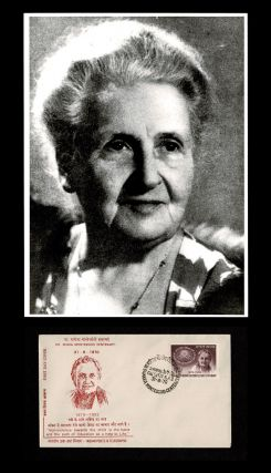 Photographic Portrait of Maria Montessori * together with * Maria Montessori 1970 Literacy Day - First Day Cover. Anonymous.