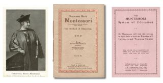 Dottoressa Maria Montessori : Her Method of Education * together with * 1929 Handbill for...