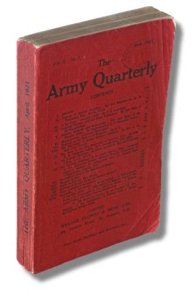 """A Set Piece - January, 1918"" by T. E. Lawrence] The Army Quarterly : Volume II No. 1 - April..."