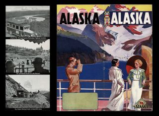 "Alaska Steamship Company ""Alaska's Magic"" 1935 Travel Brochure. Alaska Steamship Company."