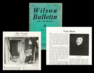 "Wilson Bulletin for Librarians. Vol. V No. 10 - June, 1931 (Vicki Baum ; Ella Young ""A Reincarnated Druidess""). Vicki Baum, Ella Young ""A Reincarnated Druidess"""