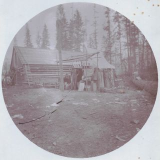 c. 1890 Cabinet Card Photograph of North Dakota Frontier Tobacco Trading Post. C. C. Hibbs,...