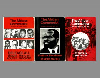 The African Communist (Quarterly). No's. 58, 61 & 62. The South African Communist Party