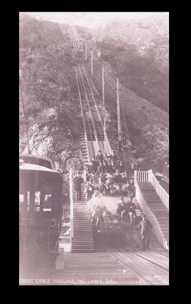 California] Photograph of The Great Cable Incline, Mt. Lowe, California. Best, Co