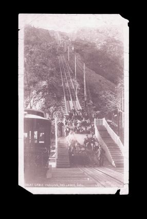 [California] Photograph of The Great Cable Incline, Mt. Lowe, California