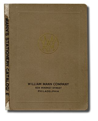 Trade Catalogue, Penmanship] Mann's Commercial Stationary Catalogue : Bank and Office Stationary...