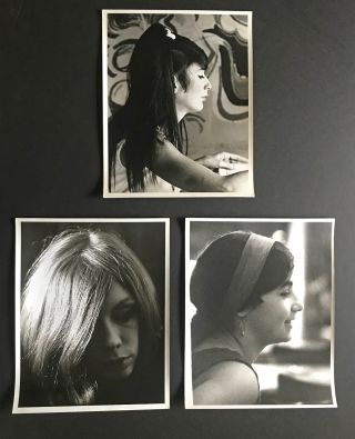 [Portrait Study] 7 - 1960's B&W Photographs of Young Women at Berkeley, CA