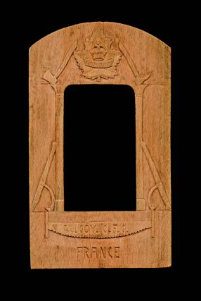 Militaria, Trench Art] No. 42 Company, Canadian Forestry Corps - W.W. I Wooden Frame. Anonymous
