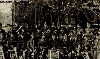 Militaria, WW I ] 8 Circa 1919 B&W Photos of the 54th Canadian Infantry Battalion in Europe. 54th...