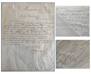ALS, CPR] 1903 Autograph Manuscript Letter Signed from a Frontier Farmer in Craigellachie, B.C....
