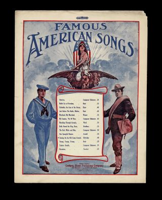 Patriotic Cover] Tenting on the Old Camp Ground - Famous American Songs. Walter Kittredge