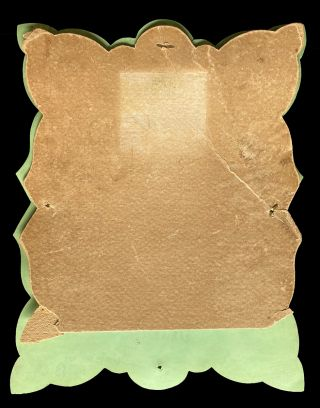 """1890's Hand-Painted """"Paris Green"""" Promotional Picture Frame from Jewelry Store in Donald, B.C."""