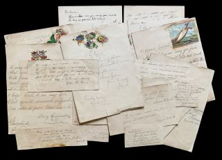 A Canadian Girl's 1880's Scrapbook of Poems, Sentiments and Chromolithograph Prints