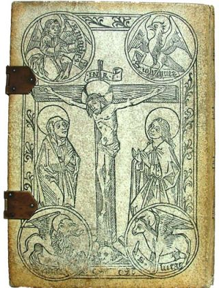 The Legendary History of the Cross : A Series of Sixty-four Woodcuts From a Dutch Book Published by Veldener, A.D. 1483, With an Introduction Written and Illustrated by John Aston. Preface by S. Baring Gould, M.A (Vellum, Early Printing, Bible Studies). Veldener.