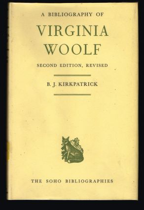 Bibliography of Virginia Woolf. Brownlee Jean Kirkpatrick.