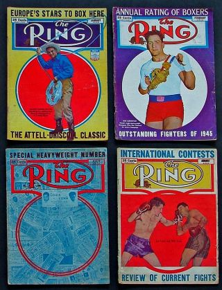 The Ring. World's Foremost Boxing Magazine: (four issues) January, February, July & August, 1946. Nathaniel Fleischer.
