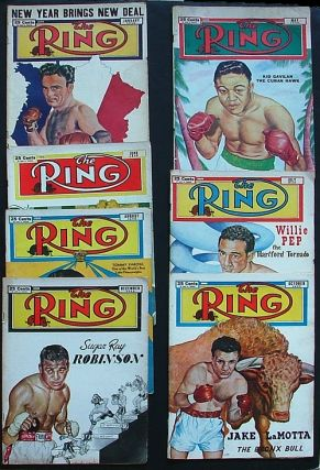 The Ring. World's Foremost Boxing Magazine: January, May, June, July, August, October &...