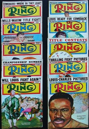 The Ring. World's Foremost Boxing Magazine: January, March, April, May, June, July, August, September, November & December 1950 (ten issues). Nathaniel Fleischer.