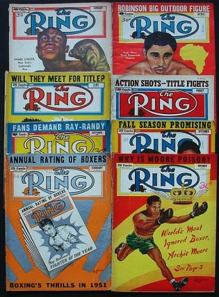 The Ring. World's Foremost Boxing Magazine: January, February, April, June, August, September, October & November 1952 (eight issues). Nathaniel Fleischer.