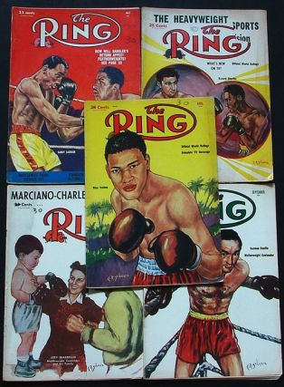 The Ring. World's Foremost Boxing Magazine: April, May, July, August, September 1954 (five issues). Nathaniel Fleischer.