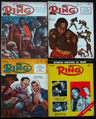 The Ring. World's Foremost Boxing Magazine: (four issues) January, March, April, September 1955. Nathaniel Fleischer.