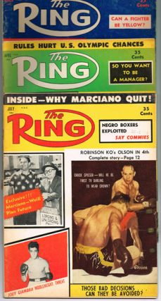 The Ring. World's Foremost Boxing Magazine: (three issues) March, April, July 1956. Nathaniel Fleischer.