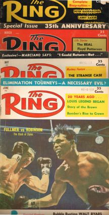 The Ring. World's Foremost Boxing Magazine: (four issues) March, May, June, October 1957. Nathaniel Fleischer.